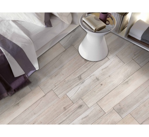 SILVER-Porcelain tile with wood effect